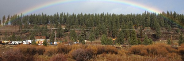 Rainbow over the Truckee River last week from the Legacy Trail
