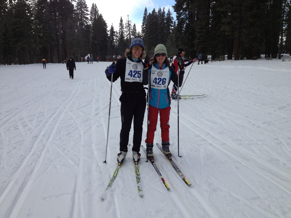 Jody and Megan - all smiles at the Tahoe Rim Tour start