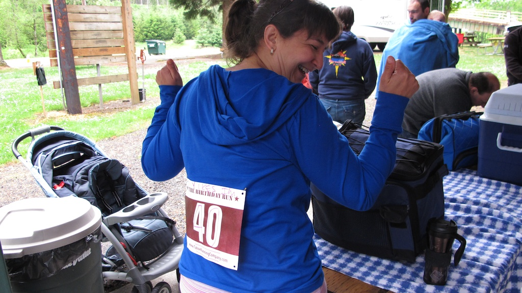 "Running newbie: ""But dance competition bibs go on your back!"""