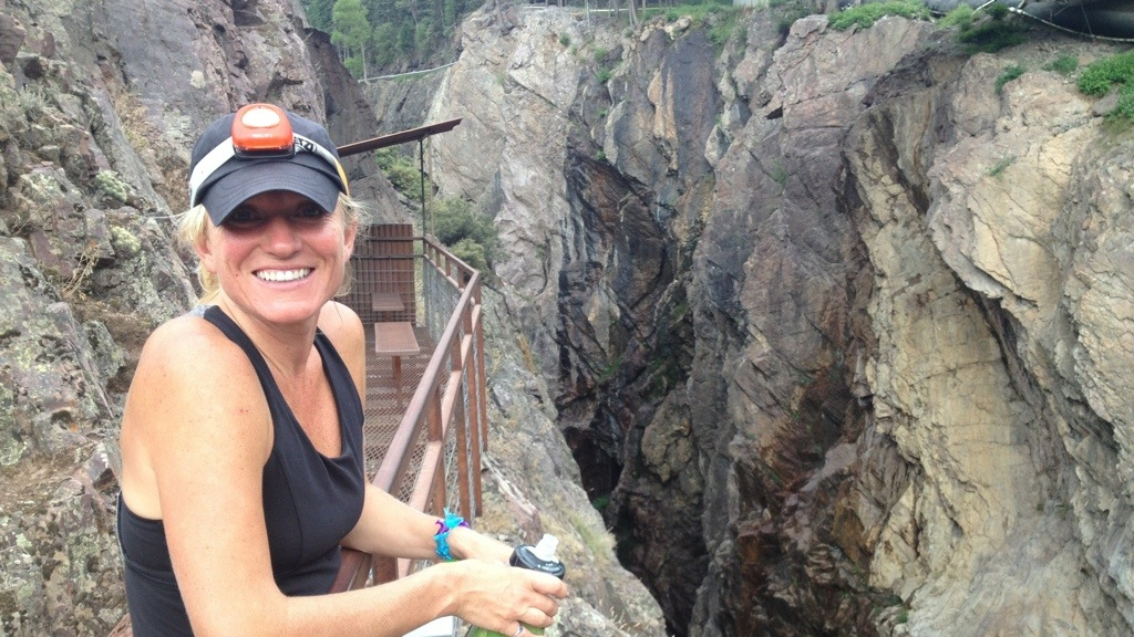The Birthday Girl at Box Canyon City Park in Ouray.