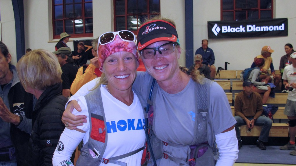 Darcy Africa and Betsy Nye - all smiles in the gym before the start