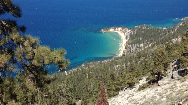Sand Harbor - home to the Lake Tahoe Shakespeare Festival - as seen from The Marlette Flume Trail.