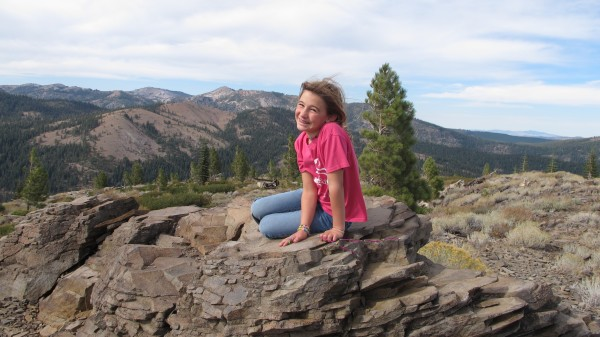 Our daughter at Hawk's Peak on her 9th Birthday