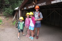 Jack and the kids ready for the mine tour.