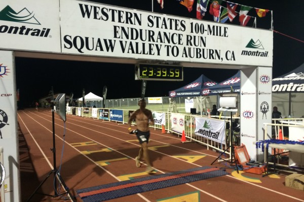 Tom finishing Western States with 20 minutes to spare for his silver buckle
