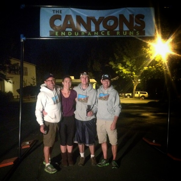 Finally a photo op with the wonderful race directors of the Canyons Endurance Runs. After enjoying a few hours (in my Recovery Pumps!) cheering 100k finishers.