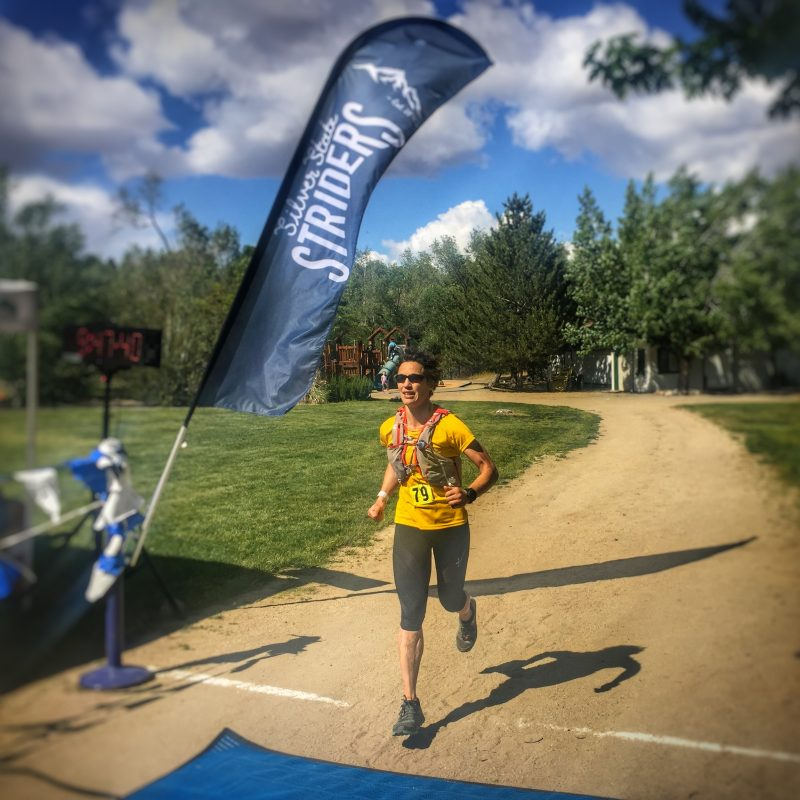 Running from one aid station to the next to finish the Silver State 50-miler