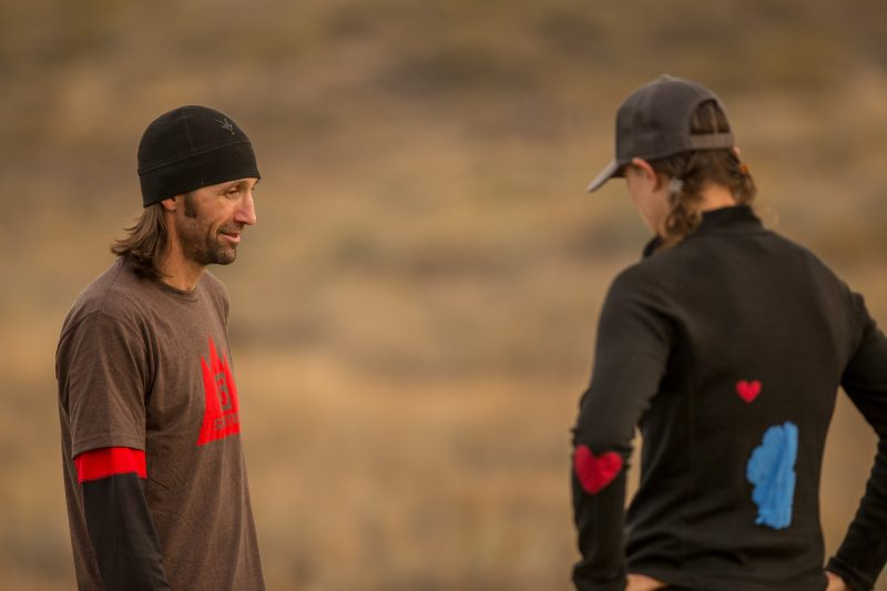 Talking about running (what else?!) with Coach Peter. Photo: Greg Walker