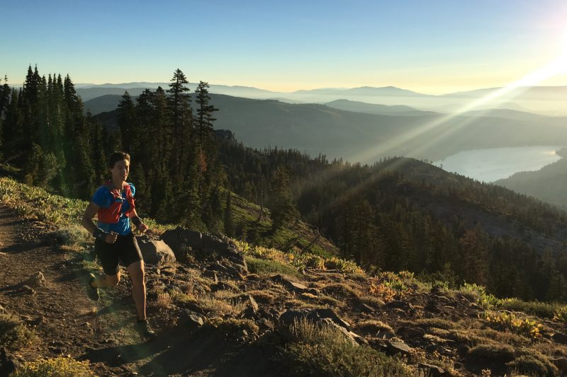 Running on the Judah Loop above Donner Lake. Photo: Pete Broomhall